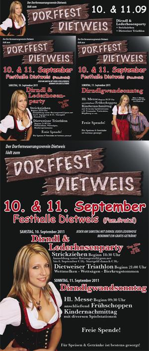 Drucksorten für das Dorffest-Dietweis