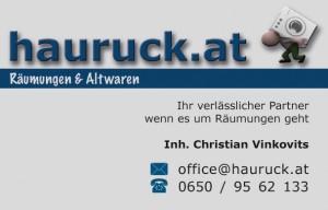 hauruck - Visitenkarten