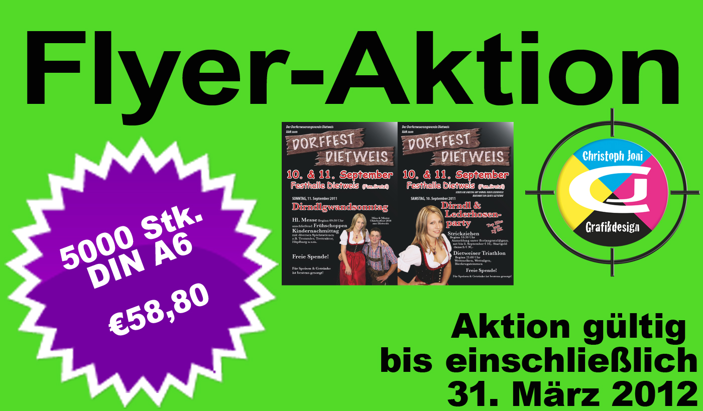 Flyer-Aktion bei CJ-Grafikdesign