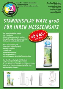 Display - Kartonaufsteller. Um nur € 65,- exkl. MwSt. erhältlich bei http://www.cj-grafik.at