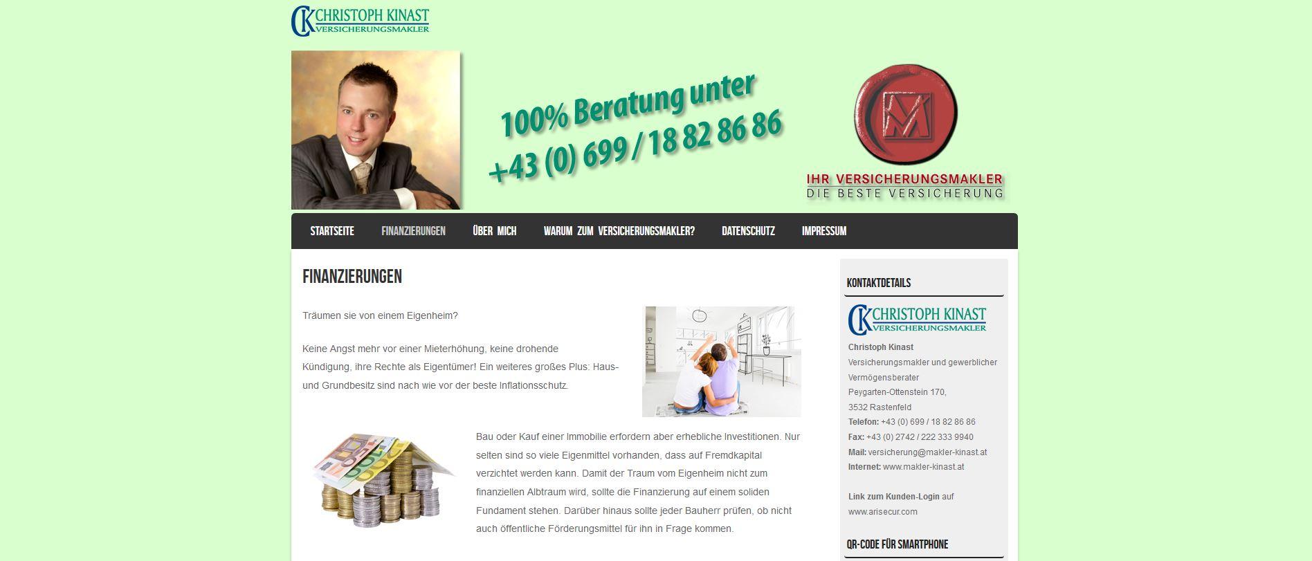 www.makler-kinast.at - Homepage